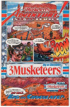 Throw Back Thursday - Comic Book Ad - 3 Musketeers #comicbookads