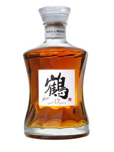 Nikka Tsuru 17 Year Old Blended Whisky Cigars And Whiskey, Scotch Whiskey, Whiskey Bottle, Nikka Whisky, Alcohol Bottles, Liquor Bottles, Tequila, Blended Whisky, Japanese Whisky
