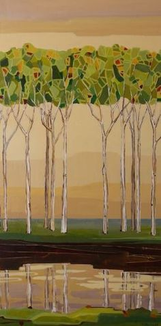 Poised In Refinement (48 x 24)  Sarah Goodnough