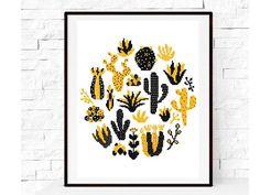 Cactus Cross Stitch, Modern Cross Stitch Pattern, Round Cross Stitch Pattern, Flower Pattern, Nature Cross Stitch, Instant download PDF, DIY
