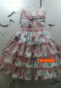vestido infantil com babado para festa - Pesquisa Google