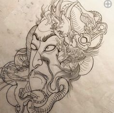 Japanese Dragon Tattoos, Japanese Tattoo Art, Japanese Art, Hannya Tattoo, Irezumi Tattoos, Geisha Tattoo Design, Ghost Tattoo, Samurai, Asian Tattoos