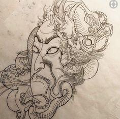 Japanese Dragon Tattoos, Japanese Tattoo Art, Japanese Painting, Japanese Art, Hannya Tattoo, Irezumi Tattoos, Geisha Tattoo Design, Ghost Tattoo, Samurai