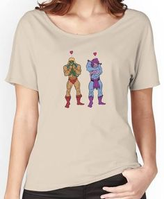 He-Man and Skeletor Snuggle Break Women's Relaxed Fit T-Shirts
