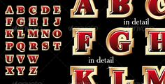 Golden style alphabet