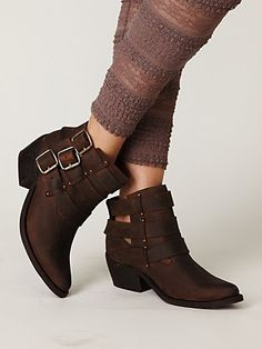 Jeffrey Campbell Buckle Back Ankle Boot at Free People Clothing Boutique
