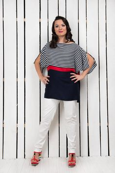 Plus Size Summer Top, Stripe Top, Oversized Blouse, Plus Size Blouse, Summer Clothing, Casual T Shirt, Loose Top, Women Top, Extravagant Top