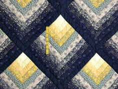 Chevron Log Cabin Quilt -- wonderful carefully made Amish Quilts from Lancaster (hs1606) - Picmia