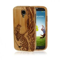 Bamboo (Wave) Samsung Galaxy S4 Skal av Äkta Bambu