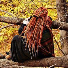 Herbst knorrigen synthetische dreads Dreadlocks Komplettset