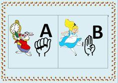 POR  AMOR: Alfabeto com o tema de Alice no país das maravilha...