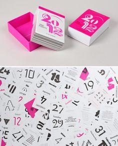 2012 typodarium calendar.