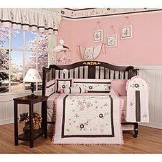 Cherry Blossom Nursery Bedding Set Flower 13 Piece Crib Baby