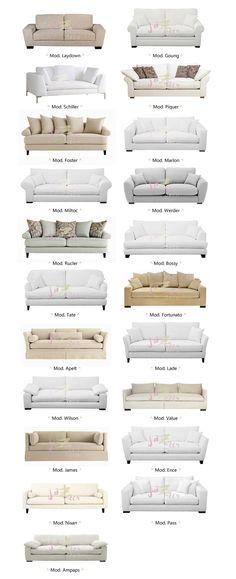 hay para elegir! Living Spaces Furniture, Living Room Sofa Design, New Living Room, Sofa Furniture, Shabby Chic Furniture, Living Room Designs, Latest Sofa Designs, Modern Sofa Designs, Modern Tv Room