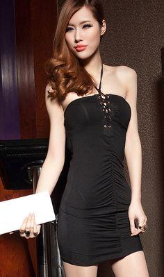 Western Nightclub Sexy Strapless backless dress Beauty And Fashion, Nightclub, Backless, Women Wear, Bodycon Dress, Sexy, Black, Dresses, Women's Work Fashion