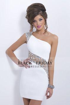 0e716397a6597 2014 Sexy Prom Dresses Sheath Short Mini One Shoulder Beaded With Elegant  Sheer Back  169.99
