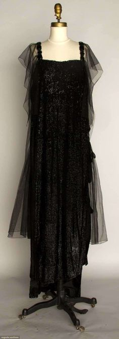 Black Sequin Evening Gown, C. 1918, Augusta Auctions, November 13, 2013 - NYC