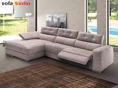 Sofá relax de 3 y 2 plazas con chaise-longue modelo Elegant fabricado por Divani Star en Sofassinfin.es