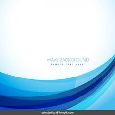 Abstract background with blue wave Free Vector