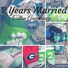 Wedding anniversary gift, 2nd wedding anniversary gift, cotton theme, decorate gift bag