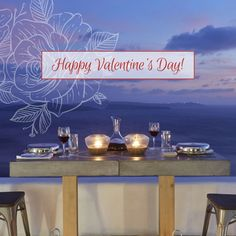 One of the best Santorini luxury hotels, located in Oia, is Atrina Canava A splendid luxury hotel in Oia, Santorini filled with the colors of the Aegean. Santorini Luxury Hotels, Oia Santorini, Santorini Holidays, Happy Valentines Day, Neon Signs, Amazing