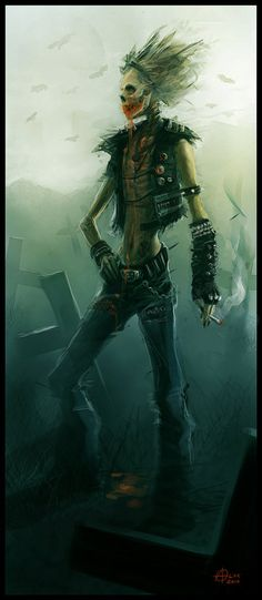 character illustration - Anorexic Punk Demon by *alexnegrea on deviantART fantasy
