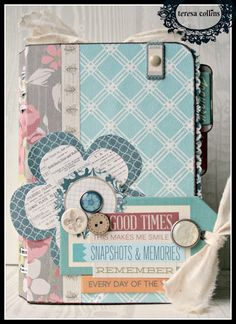 TERESA COLLINS DESIGN TEAM: How to cut 27 pages for your journal book with tutorial by Cheri Piles