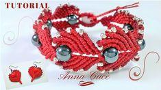 "Tutorial macrame bracelet "" Heart ""/ How to make a bracelet for valentin..."