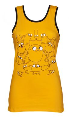 Ladies Yellow Adventure Time Vest