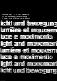 """Peter Megert, Poster for an exhibition on kinetic art, 1965 (from the book """"Swiss Graphic Design"""")"""