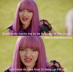 Everybody Wants me to be this lady the court I have no idea how to keep up the act Descendants Mal And Ben, Descendants Characters, Disney Channel Descendants, Disney Channel Movies, Best Disney Movies, Dianne Doan, Mal And Evie, Tv Show Casting, Old Disney