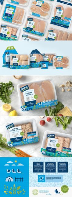 Iconic Chicken Brand Perdue Just Unveiled a Vastly Improved New Package Design Menu Design, Label Design, Food Design, Package Design, Design Design, Graphic Design, Food Packaging Design, Brand Packaging, Product Packaging