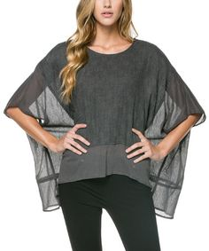 Look what I found on #zulily! Charcoal Woven Textured Poncho by miilla  #zulilyfinds