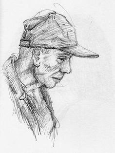 Ballpoint pen sketch - Cleto Criste