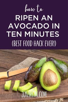 Stuck with rock-hard avocados? Here's a quick and easy way to ripen an avocado in just 10 minutes. Find out more about what to do with hard avocados and how to soften avocados quickly. Hard Avocado, How To Cut Avocado, How To Make Guacamole, Ripe Avocado, Freeze Avocado, Veggie Dishes, Vegetable Recipes, Veggie Food, Side Dishes