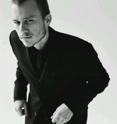Heath Ledger: Wonderful actor and great pic of him here.  RIP Heath