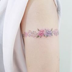 Flower Arm Band Tattoo Artist: hktattoo_mini Mini Lau Hello