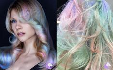 Want subtle unicorn hair? Opal Hair is the trend for you! Want subtle unicorn hair? Opal Hair is the Supernatural Hair, Silver Hair Highlights, Rose Gold Blonde, Opal Hair, Underlights Hair, Hair Images, Hairstyle Images, Unicorn Hair, Rainbow Hair