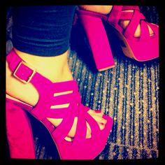 jessica simpson chunky heel platform sandals.
