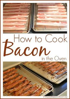 How to cook perfect crispy bacon in the oven recipe oven how to cook bacon in the oven ccuart Choice Image