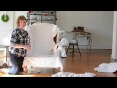 slipcover series | part two | cutting the fabric - Miss Mustard Seed