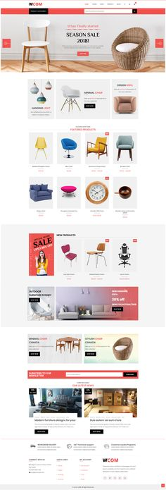 Wcom is a minimal and modern WordPress e-commerce theme built with Visual Composer page builder. Professionally done and inspired by the latest web design Web Design Grid, Food Web Design, Web Design Mobile, Web Design Icon, Ecommerce Website Design, Responsive Web Design, Web Design Trends, Design Blog, Login Design