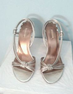 Max Studio Simone Women's Metallic Strappy High Heel Sandal SZ 7  Retail $140 #MaxStudio #Strappy