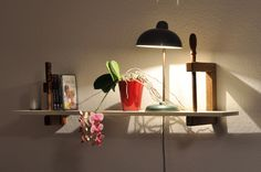 Shelf, made with old wooden screw clamps!