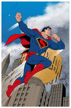 Superman Art Deco and Thou by Tom Grummett
