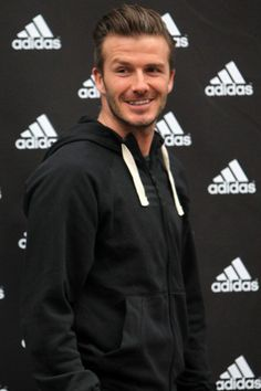 David Beckham is all in for Adidas! See other pics of the day here.