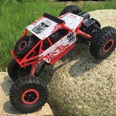 RC Auto 2.4G Rock Crawler Bigfoot 4 Ruote Motrici Motori A Doppia Radio Telecomando Arrampicata Off Road Scala 1/18 Modello di Veicolo Giocattolo