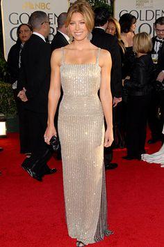 Jessica Biel: Dress - Valentino Purse - Fendi