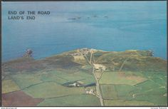 End of the Road, Land's End, Cornwall, c.1970s - Larkfield Postcard