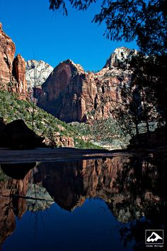 Reflection in Emerald Pool - Zion National Park, Utah by isaac.borrego, via Flickr